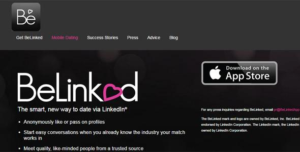 BeLinked screenshot of homepage