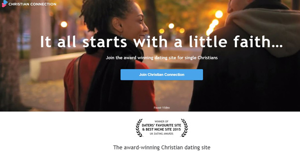 Screenshot of Christian Connection's homepage