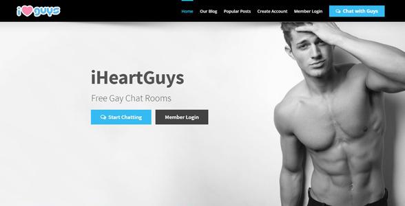 Screenshot of iHeartGuys' homepage
