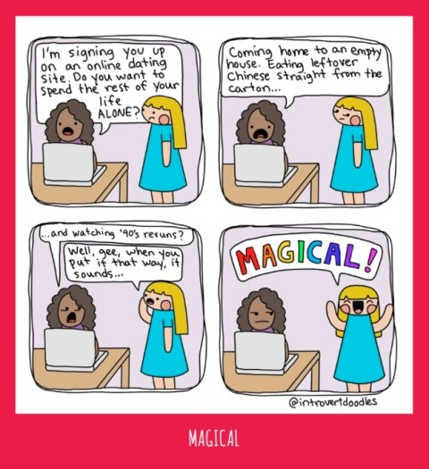 'Introvert Doodles' Comics Capture What It's Like In order to Date As An Introvert