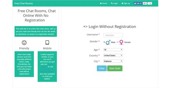 Screenshot of Chatib's homepage